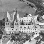 Denkmalzone ehemaliges Augustinerchorherrenstift Ravengiersburg. Luftbild, ca. 1930