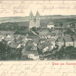 Ortsansicht von Südwesten; ältestes bisher bekannt gewordenes Foto von Ravengiersburg; am 13.09.1902 postalisch gelaufen