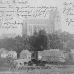 Blick auf den Hunsrückdom von Norden; vermutlich um 1910 postalisch gelaufen