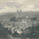 Unterstraße mit evangelischer Kirche und Hunsrückdom von Süden; am 05.08.1911 postalisch gelaufen
