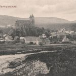 Ortsansicht von Norden; mehrfach überlieferte Ansichtskarte, zwischen 1915 und 1920 postalisch gelaufen
