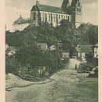 Hauptstraße mit Hunsrückdom von Norden; am 09.01.1926 postalisch gelaufen