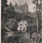 Mühlengasse von Osten; am 10.01.1928 postalisch gelaufen; in der Folgezeit wurde das Motiv immer wieder aufgelegt