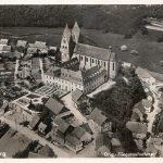 Ortsansicht von Osten; Luftaufnahme zwischen 1935 und 1945 entstanden; ungelaufen